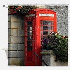 Phone Box Shower Curtain