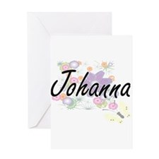 Johanna Artistic Name Design with F Greeting Cards