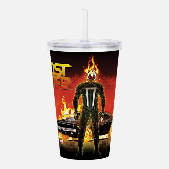 Ghost Rider Car Acrylic Double-wall Tumbler