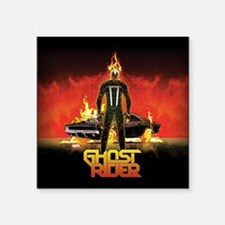 "Ghost Rider Car Square Sticker 3"" x 3"""