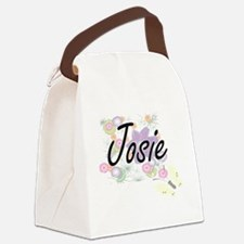 Josie Artistic Name Design with F Canvas Lunch Bag