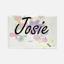 Josie Artistic Name Design with Flowers Magnets