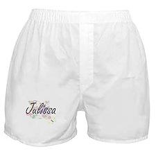 Julissa Artistic Name Design with Flo Boxer Shorts