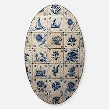 Antique Tile Art Grid Decal