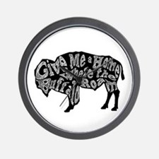 Give Me a Home Buffalo Roam Wall Clock