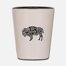 Give Me a Home Buffalo Roam Shot Glass