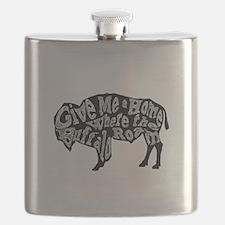 Give Me a Home Buffalo Roam Flask