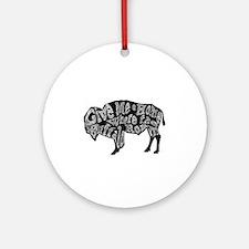 Give Me a Home Buffalo Roam Round Ornament