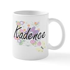 Kadence Artistic Name Design with Flowers Mugs
