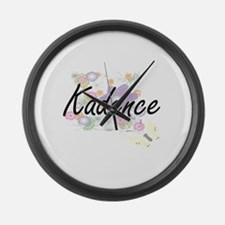Kadence Artistic Name Design with Large Wall Clock