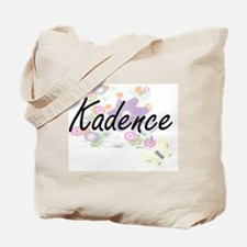 Kadence Artistic Name Design with Flowers Tote Bag