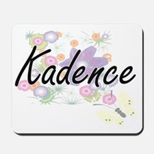 Kadence Artistic Name Design with Flower Mousepad