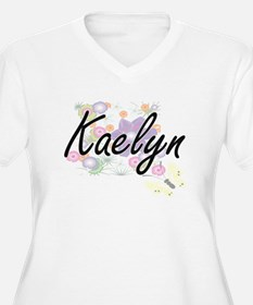 Kaelyn Artistic Name Design with Plus Size T-Shirt