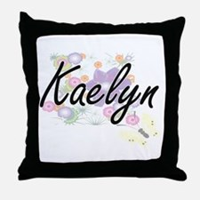 Kaelyn Artistic Name Design with Flow Throw Pillow