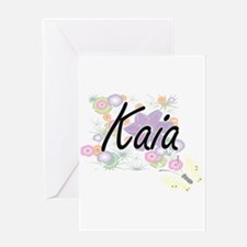 Kaia Artistic Name Design with Flow Greeting Cards