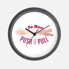 Push & Pull Wall Clock