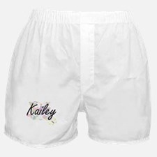 Kailey Artistic Name Design with Flow Boxer Shorts