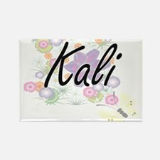 Kali Artistic Name Design with Flowers Magnets
