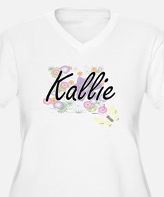 Kallie Artistic Name Design with Plus Size T-Shirt