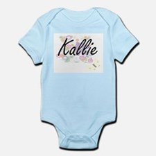 Kallie Artistic Name Design with Flowers Body Suit