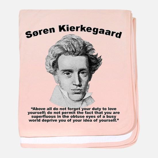 Kierkegaard SelfLove baby blanket
