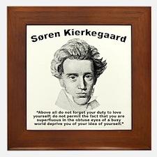 Kierkegaard SelfLove Framed Tile