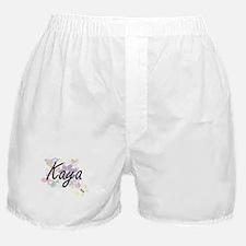 Kaya Artistic Name Design with Flower Boxer Shorts