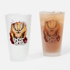 Ghost Rider Grunge Drinking Glass