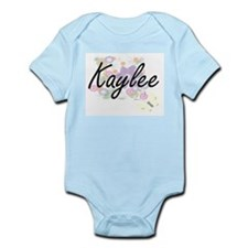 Kaylee Artistic Name Design with Flowers Body Suit