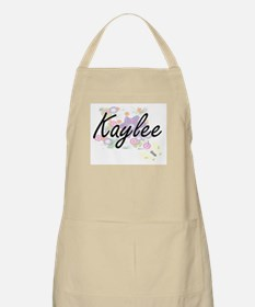 Kaylee Artistic Name Design with Flowers Apron