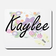 Kaylee Artistic Name Design with Flowers Mousepad
