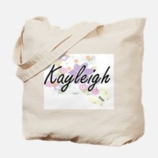 Kayleigh Artistic Name Design with Flower Tote Bag
