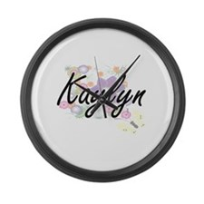 Kaylyn Artistic Name Design with Large Wall Clock