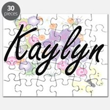 Kaylyn Artistic Name Design with Flowers Puzzle