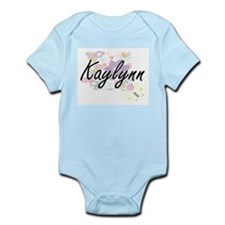 Kaylynn Artistic Name Design with Flower Body Suit