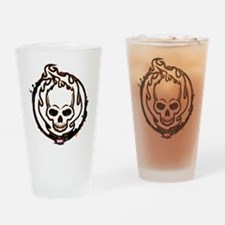 Ghost Rider Logo Drinking Glass