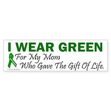 Green For Mom Organ Donor Donation Car Sticker