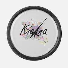 Kianna Artistic Name Design with Large Wall Clock