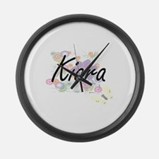 Kiara Artistic Name Design with F Large Wall Clock