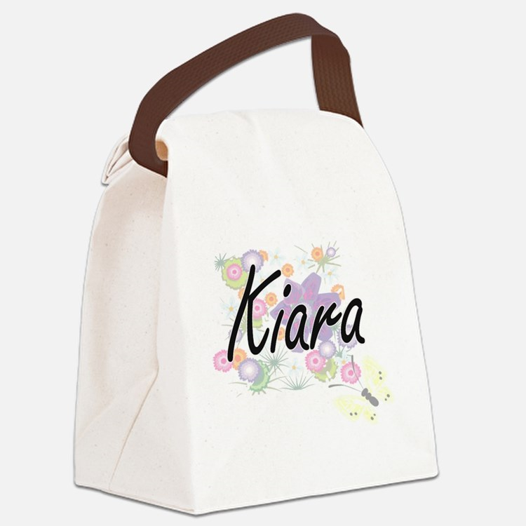 Kiara Artistic Name Design with F Canvas Lunch Bag