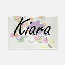 Kiara Artistic Name Design with Flowers Magnets