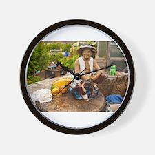 Contented gardener Wall Clock