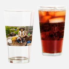 Contented gardener Drinking Glass