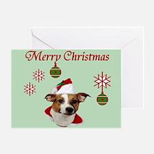 Jack Russell Christmas Greetings Greeting Card