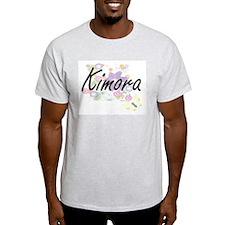 Kimora Artistic Name Design with Flowers T-Shirt