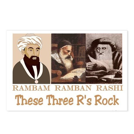 Three Rabbis Rock Postcards (Package of 8)