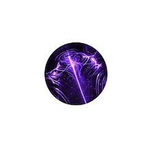 Purple Plasma Glow Flower Mini Button
