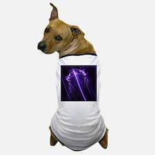 Purple Plasma Glow Flower Dog T-Shirt