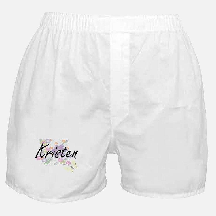 Kristen Artistic Name Design with Flo Boxer Shorts