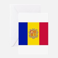 Andorra Flag Greeting Cards